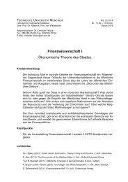 Handout - Lehrstuhl für Volkswirtschaftslehre - TUM