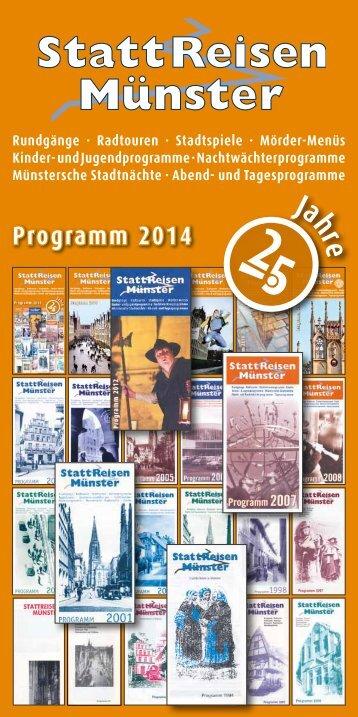 Programm 2014 - StattReisen Münster