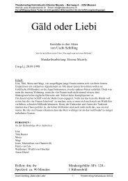 Gäld oder Liebi - Theaterverlag Kaliolabusto