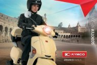 KYMCO Katalog Scooter 50 - 200 ccm - Scootershop-Dresden