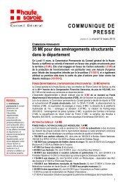 Commission permanente : 35 M€ pour des aménagements ...