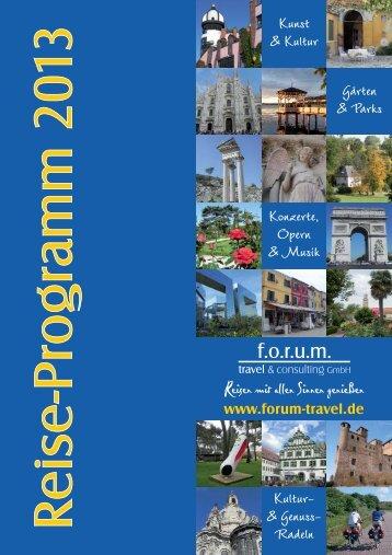 Programm - forum-travel.de