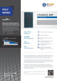 POLY MONO CSUN255-60P - nature solar