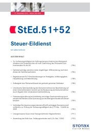 StEd.51+52 - Stotax Portal