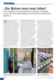 Die Walzen muss man lieben - Westland Gummiwerke GmbH & Co ...