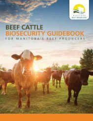 Beef Cattle BioseCurity GuideBook - Manitoba Beef Producers