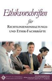 Richtlinieneinhaltungs- und Ethik-Fachkräfte - Society of Corporate ...