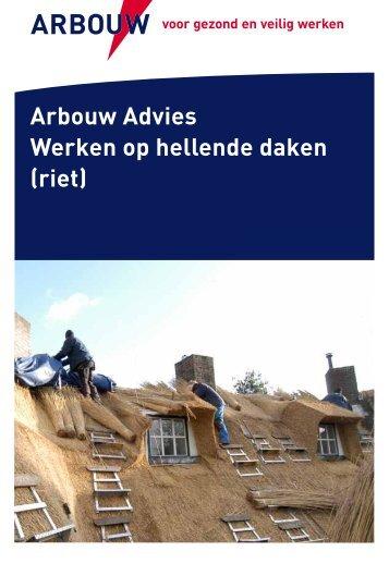 Arbouw Advies Werken op hellende daken (riet)