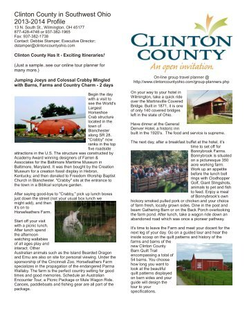 Clinton County CVB Profile - Ohio Has It!