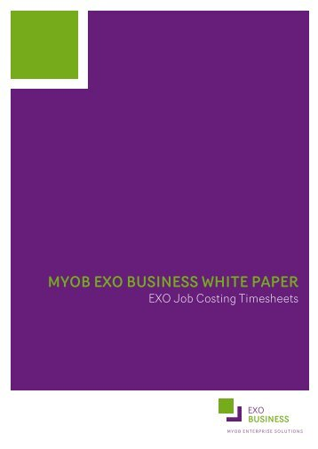 EXO Job Costing Timesheets - MYOB