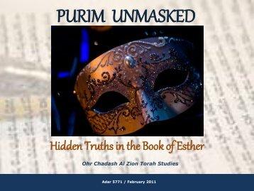 PURIM UNMASKED - Bella Torah