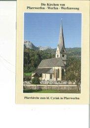 Kirchenführer Pfarrkirche Pfarrwerfen