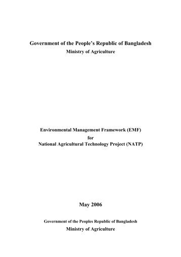 Chapter 1 - Bangladesh Agricultural Research Council