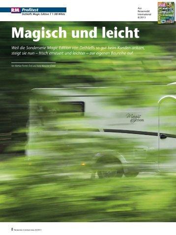 Artikel aus Reisemobil International 8/2013 - Dethleffs