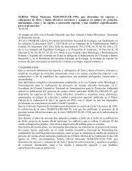 sedesol nom-059-ecol-1994 - Secretaría del Medio Ambiente