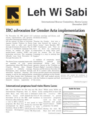 IRC Newsletter Dec07_pdf - International Rescue Committee
