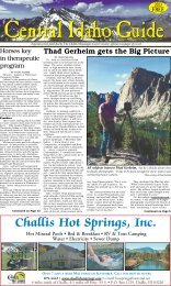 Central Idaho Guide 2013 - The Challis Messenger