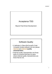 Acceptance TDD Software Quality