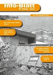 Archiv 2013 – Info-Blatt 138 - Pfarrei St. Urban