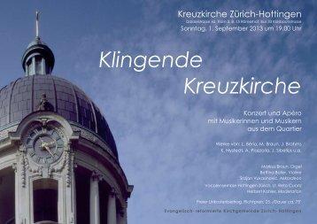 im Flyer (PDF / 240 kB) - Vocalensemble Hottingen Zürich