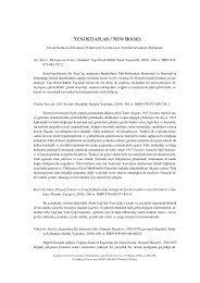 OCAK–HAZİRAN 2010 Türkiye'de Yayınlanan Yeni Kitaplar