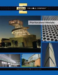 Perforated Metals - Erdle Perforating