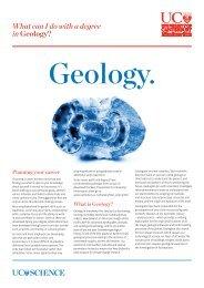 Geology - University of Canterbury
