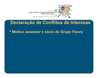 Declaração de Conflitos de Interesse ç - SBPC/ML