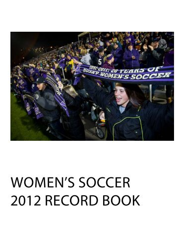 WOMen's sOccer 2012 recOrd BOOk - University of Washington