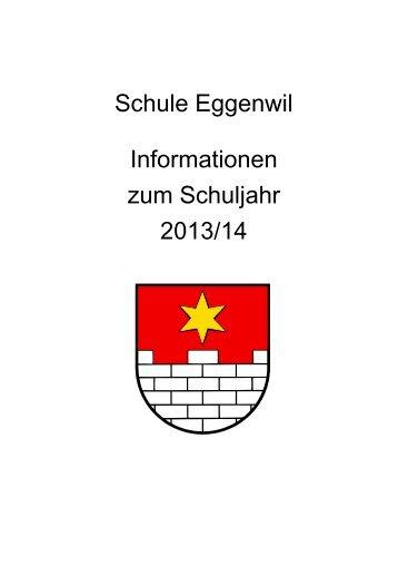 Infoschrift Schule Eggenwil 2013-2014