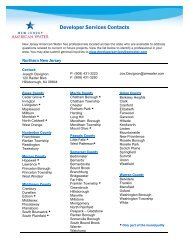 Developer Services Contacts - American Water