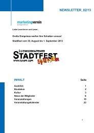NEWSLETTER_02/13 - Marketing-Verein Ludwigshafen eV