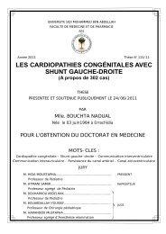 II/ETUDE CLINIQUE - Faculté de Médecine et de Pharmacie de Fès