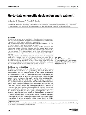 Up-to-date on erectile dysfunction and treatment - Jas - Journal of ...