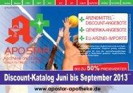 Discount-Katalog Juni bis September 2013 ... - Apostar Apotheke