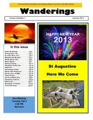 Wanderings Jan 2013 Issue - Del Webb Orlando