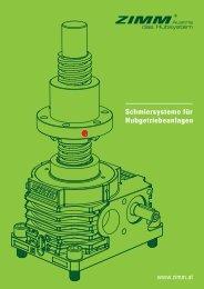 ZIMM Schmiersysteme für Hubgetriebeanlagen - Alfred Imhof AG
