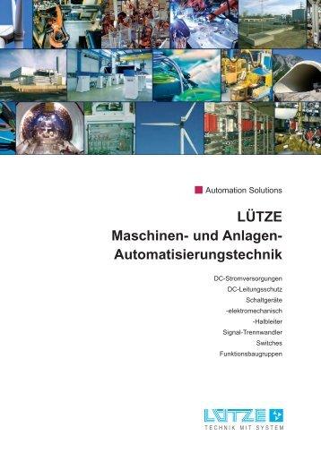 und Anlagen- Automatisierungstechnik - Luetze.com
