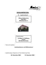 SCHULINSPEKTION 2. Inspektionsbezirk