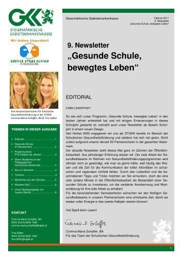 9. Newsletter - Gesunde Schule, bewegtes Leben - Februar 2011
