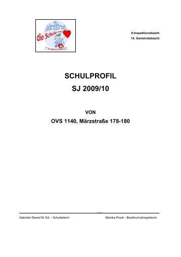 SCHULPROFIL SJ 2009/10 VON OVS 1140, Märzstraße 178-180