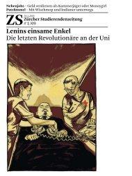 Lenins einsame Enkel - Zürcher Studierendenzeitung