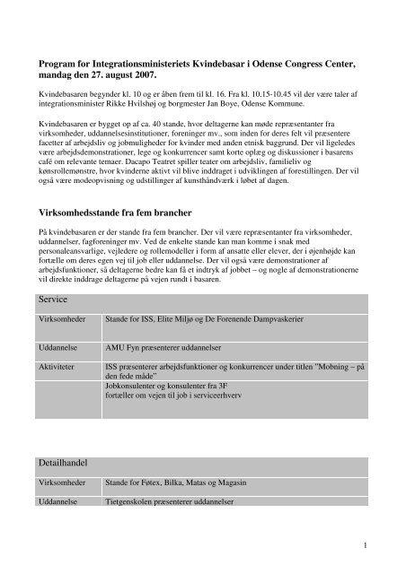 Program for kvindebasar (PDF) - Ny i Danmark