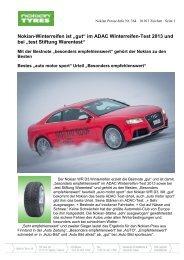 """""""gut"""" im ADAC Winterreifen-Test 2013 und bei """"test ... - Nokian Tyres"""