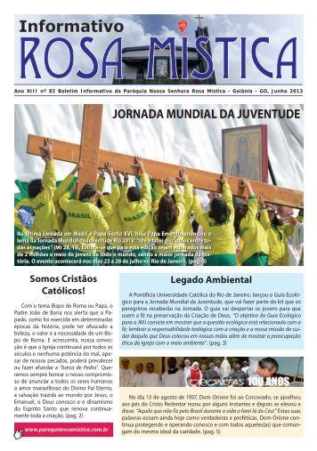 Informativo 82 Junho 2013.indd - Paróquia Nossa Senhora Rosa ...