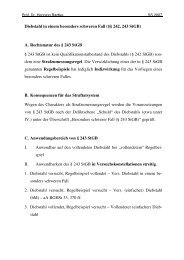 Diebstahl in einem besonders schweren Fall - Prof. Dr. Henning ...