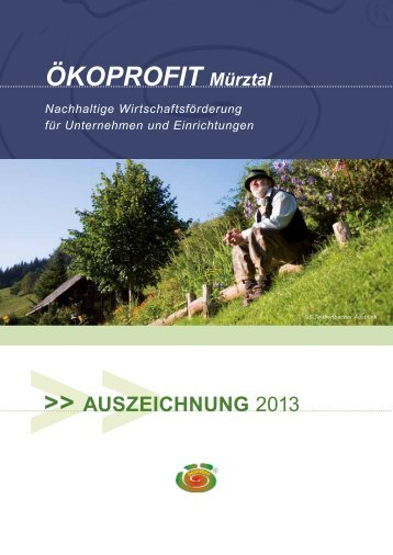 Broschüre ÖKOPROFIT Mürztal - Auszeichnung ... - WIN - Steiermark