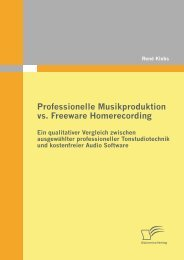 Professionelle Musikproduktion vs. Freeware ... - PagePlace