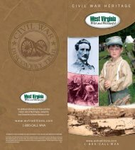 Civil War Brochure - West Virginia Division of Tourism