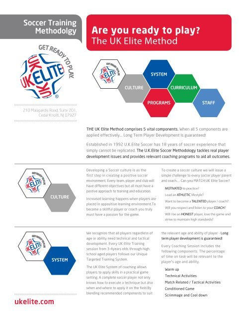 high fashion hot product detailed pictures Are you ready to play? The UK Elite Method - UK Elite Soccer